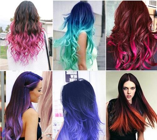 Модные крашеные волосы