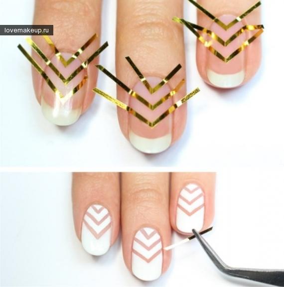 Ногти полоски дизайн