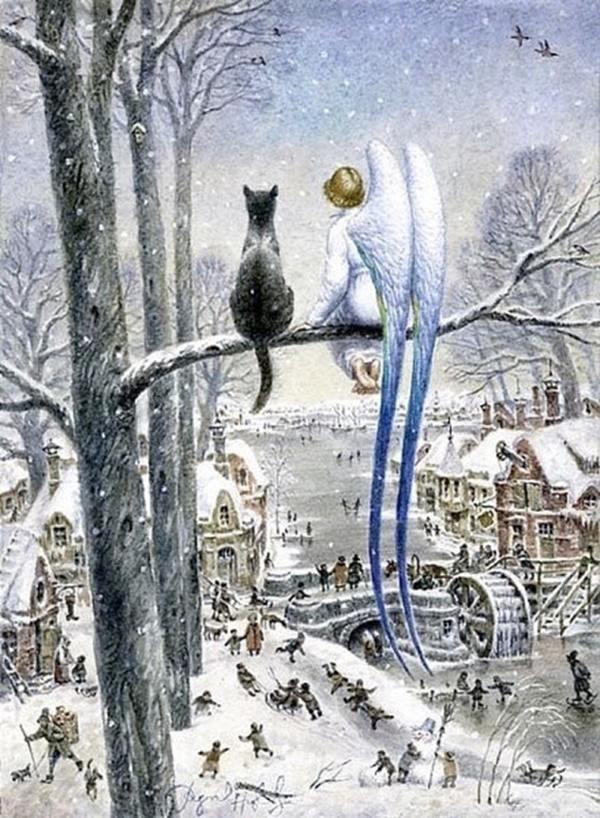 Одна из самых добрых сказок про Ангела и кота.