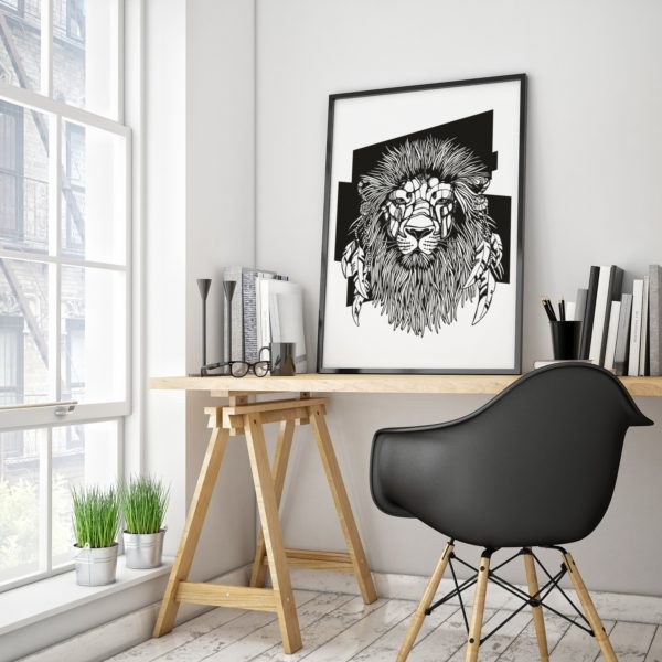 lion-wall-decal-interior-decor-animal-wall-decal-animal-sticker-poster