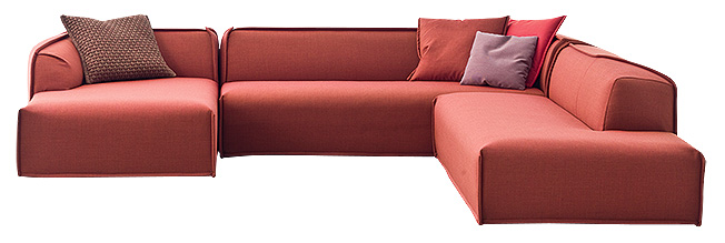 Диван, M.A.S.S.A.S. (Moroso Asymmetric Sofa System Adorably Stitched), Moroso.