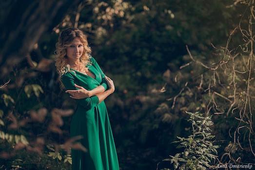 Фотосессия в платьях в лесу