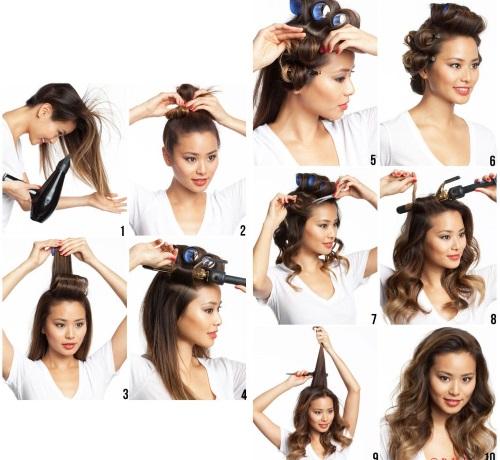 Сделать укладку волос самой