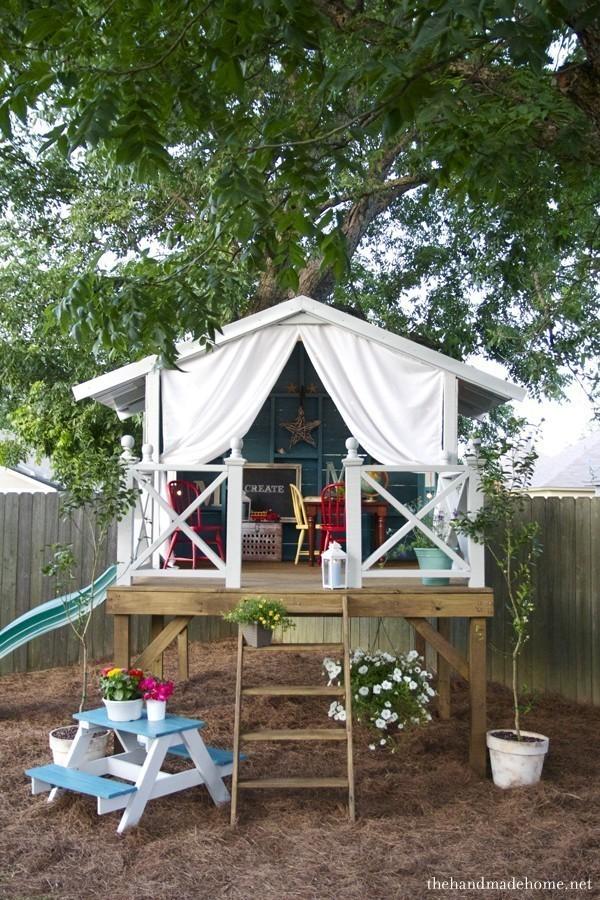 Фото домик для детей на дачу своими руками