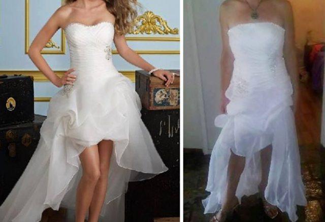Свадебное платье ожидание реальность