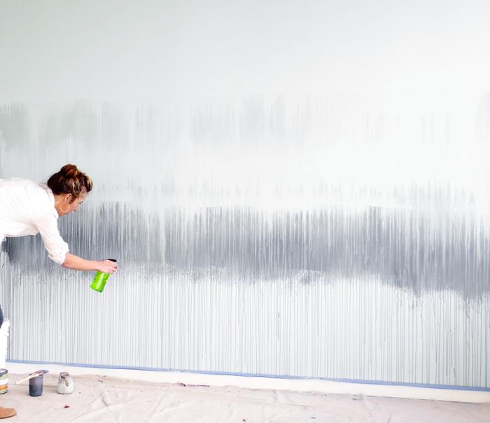 Акварельная стена как сделать