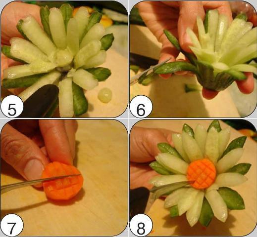 цветы из овощей своими руками фото пошагово
