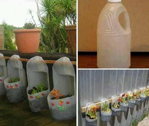 Кашпо своими руками из пластиковых бутылок 39