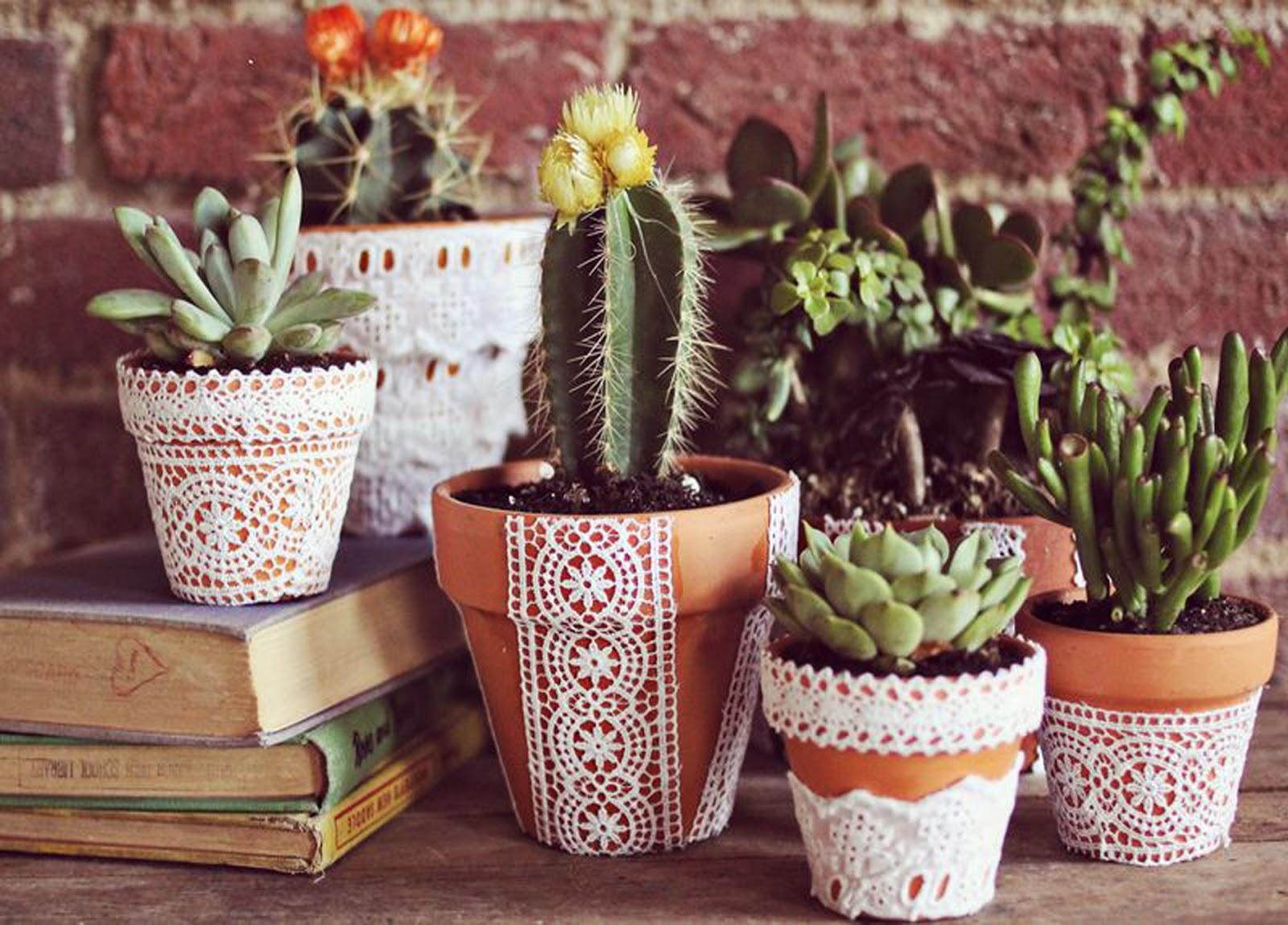 Горшки для цветов украсить