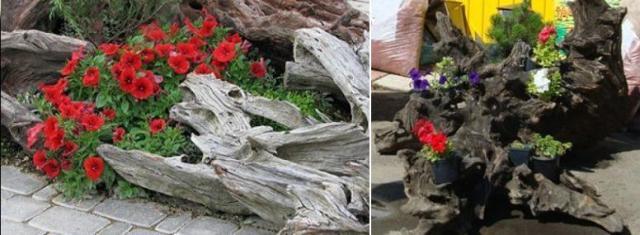 Поделки для сада своими руками из пня