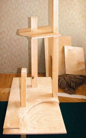 Домик-когтеточка для кота своими руками