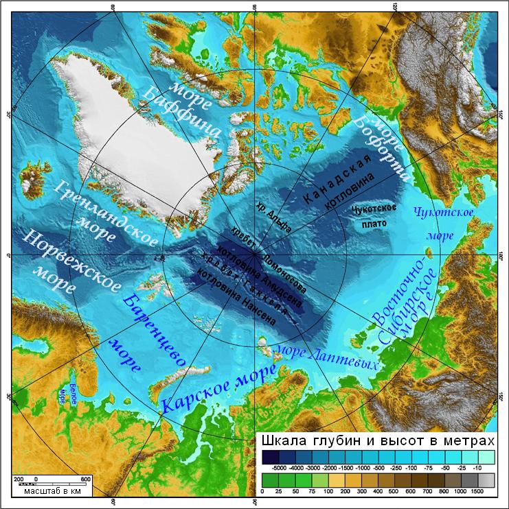 фото на карте северного ледовитого океана