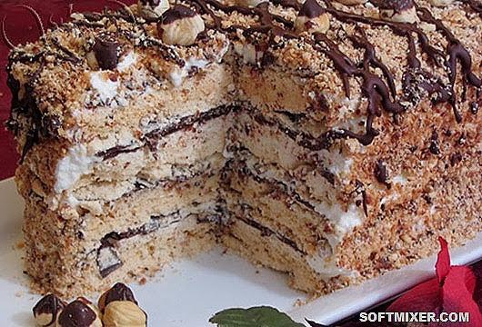 бисквитный торт с безе рецепт с фото пошагово