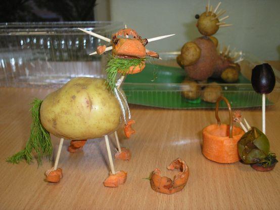 Какие поделки сделать для детского сада из овощей