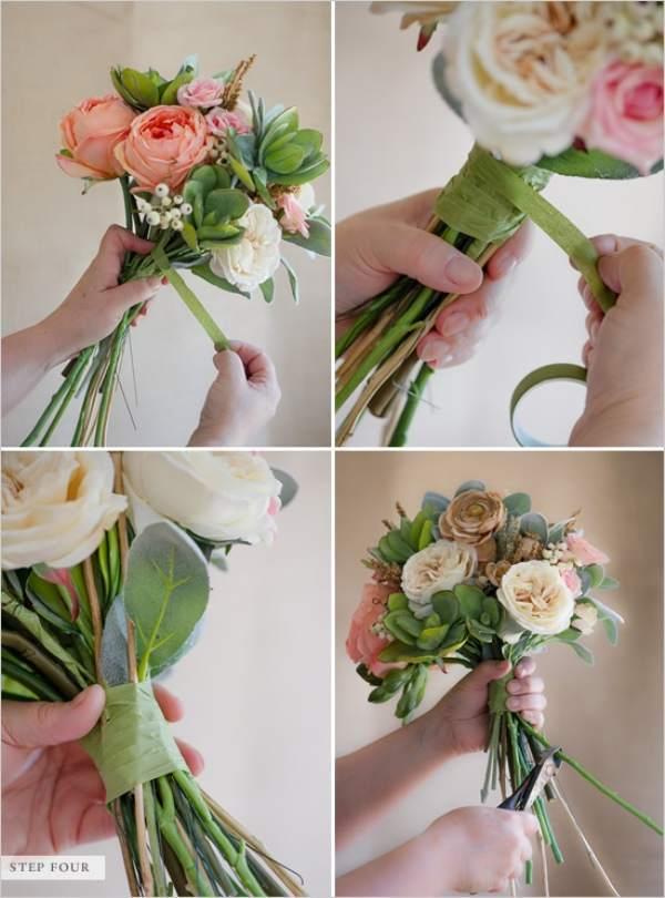Букеты для невесты из роз своими руками