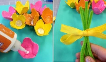 Поделки цветы из подручных средств 104