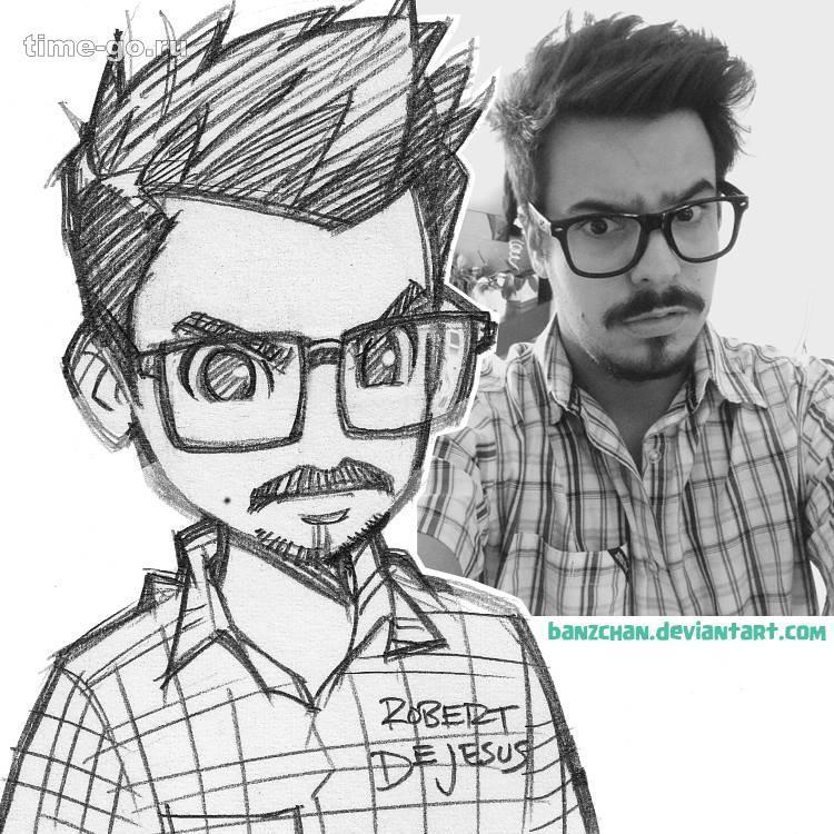 Как нарисовать человека в мультяшном стиле по