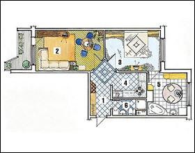 10 вариантов перепланировки двушки-распашонки в доме серии п.