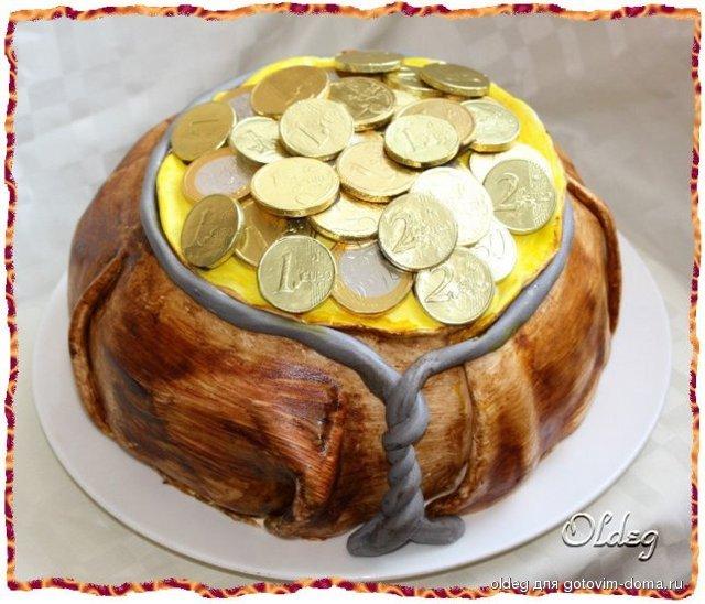 торт мешочек с монетами фото новый год окунет