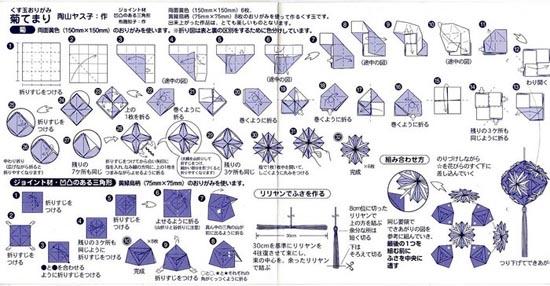 Как сделать из бумаги магический шар схема