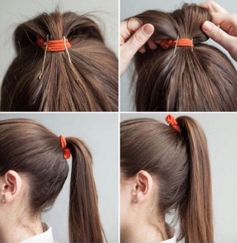 Как сделать на волосах хвостик длиннее