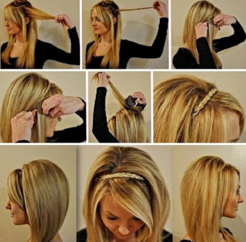Быстрые и красивые прически на средние волосы