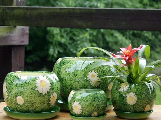 Фото красивого горшка для цветов