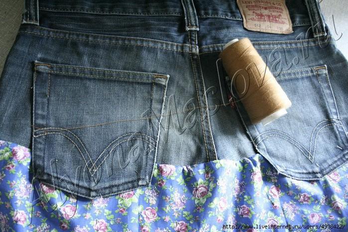 Как с джинсов сделать юбку пошаговое