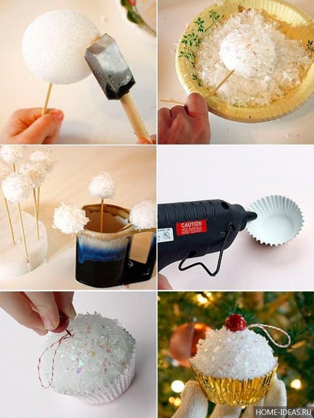 Как самим сделать новогодние шарики
