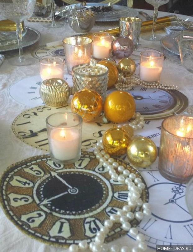 Оформление к новому году свечи