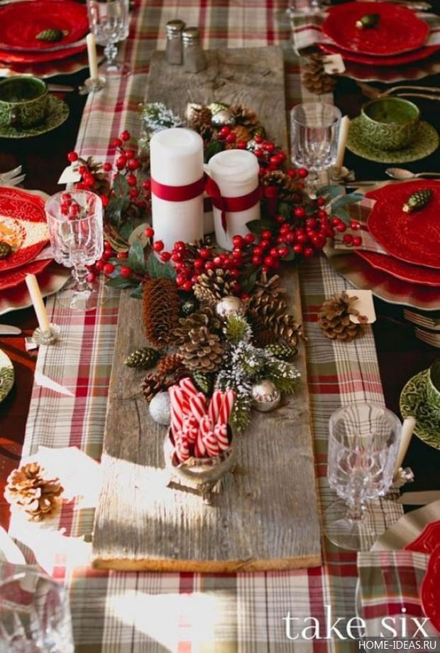 Украшения стола на новый год  фото