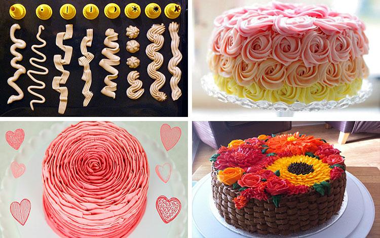 Как делать красивые торты в домашних условиях