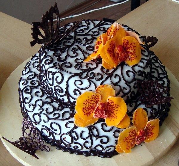 Очень красивый торт в домашних условиях