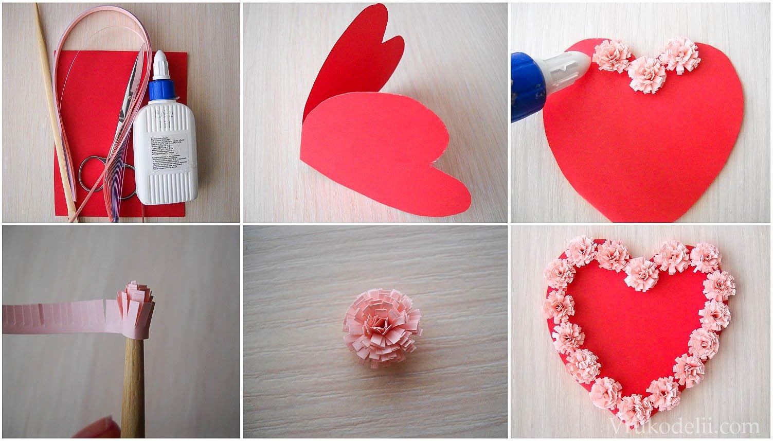 Как сделать своими руками открытку сердечко