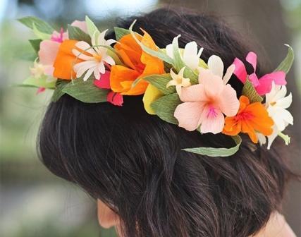 Ободок цветы из бумаги своими руками