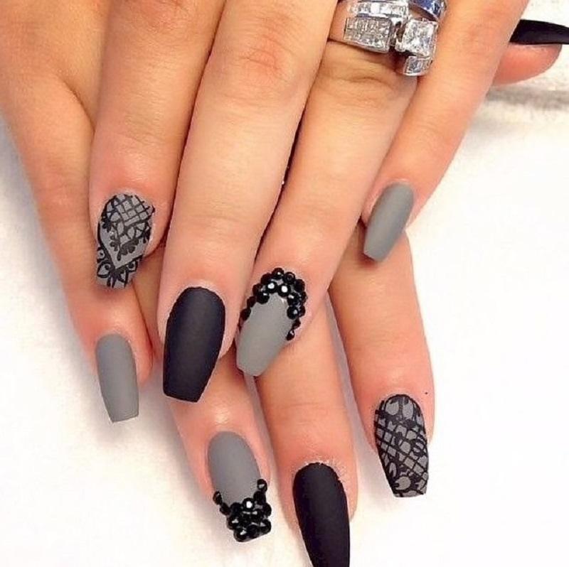 Идеи дизайна черных ногтей фото