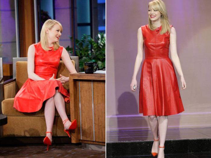 Пышные блондинки в кожаных платьях
