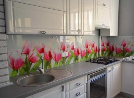 Панель на кухню фартук цветы