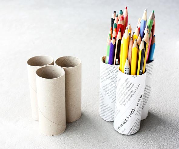 Как из картона сделать карандашницу