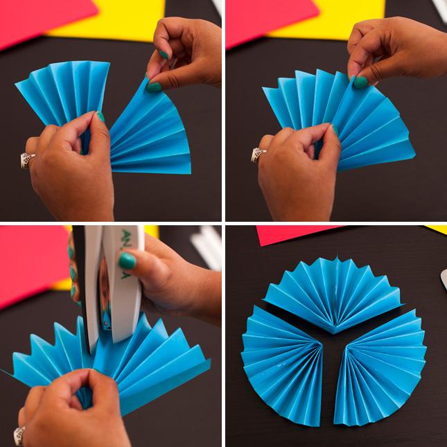 Круги из бумаги гармошкой своими руками